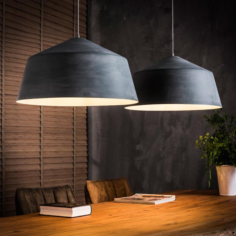 Santa conisch betonlook hanglamp lumz for Lampen eettafel design