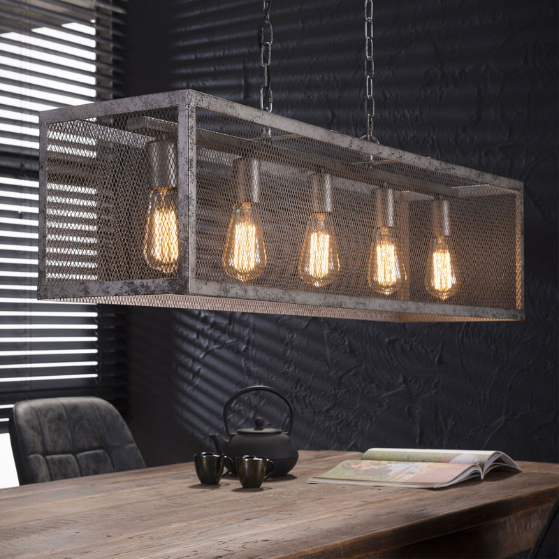 santa krinis industriele hanglamp raster 5l lumz. Black Bedroom Furniture Sets. Home Design Ideas