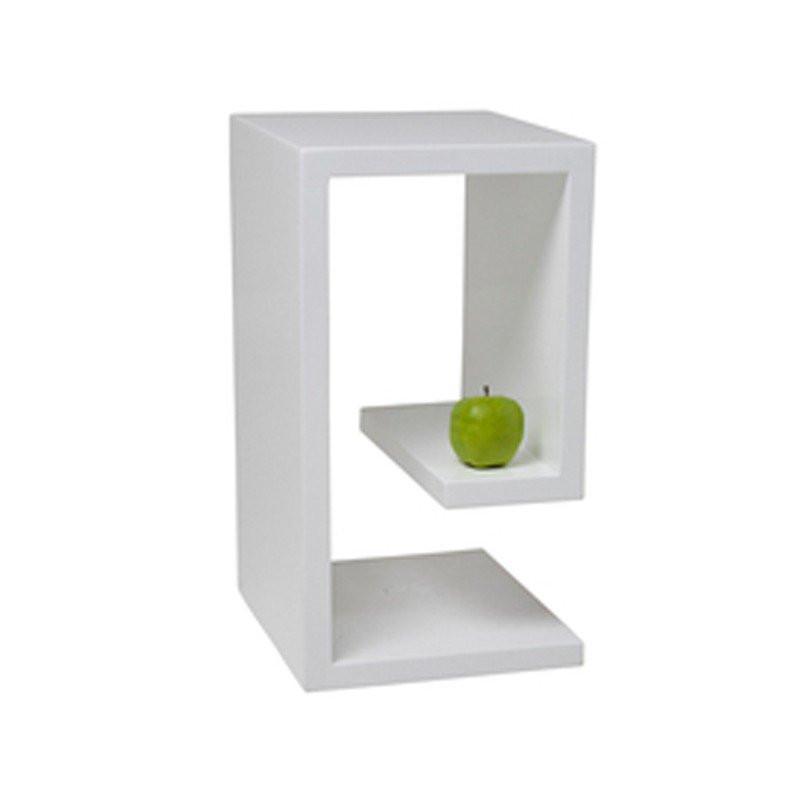 bijzettafel hoogglans club cube m. Black Bedroom Furniture Sets. Home Design Ideas