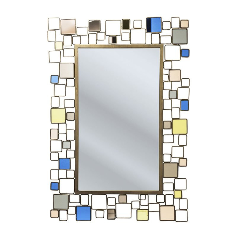 spiegel gekleurd glas brick deluxe. Black Bedroom Furniture Sets. Home Design Ideas