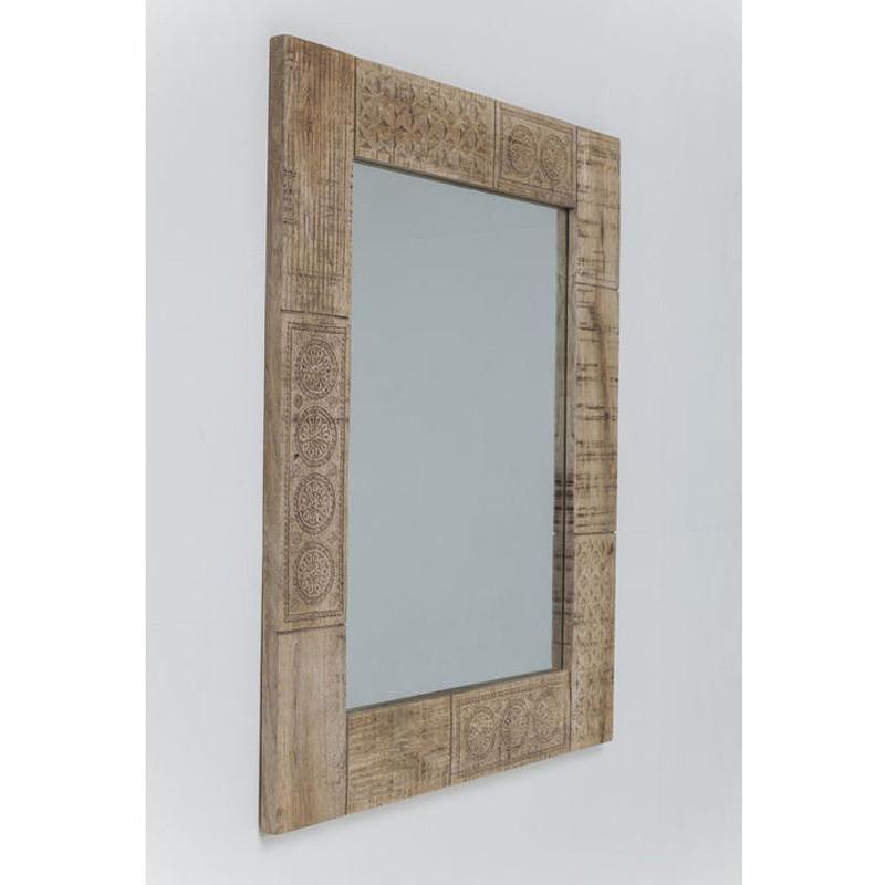 spiegel met mangohout kare design puro. Black Bedroom Furniture Sets. Home Design Ideas