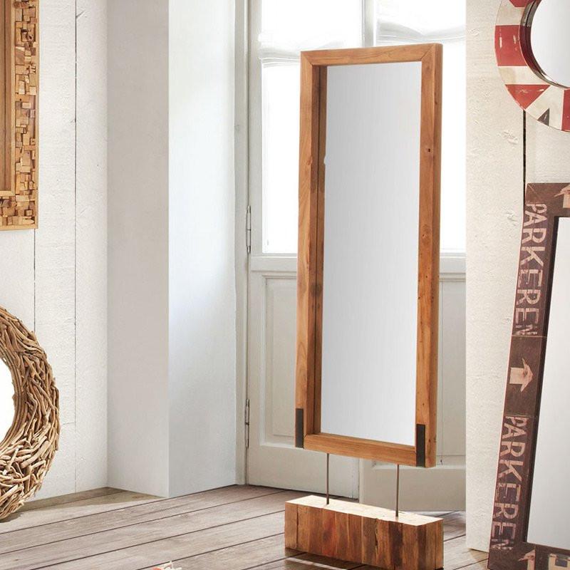 staande spiegel laforma ganab hout