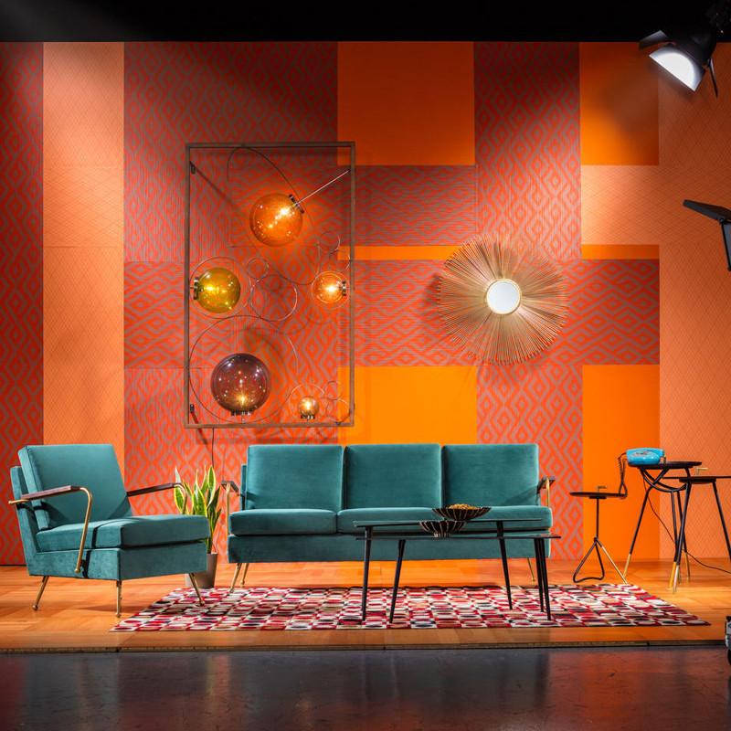 stalen spiegel kare design deco. Black Bedroom Furniture Sets. Home Design Ideas