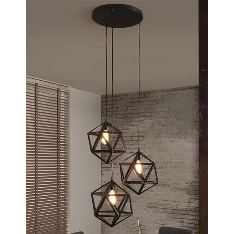 triangel hanglamp metaal santa geom lumz