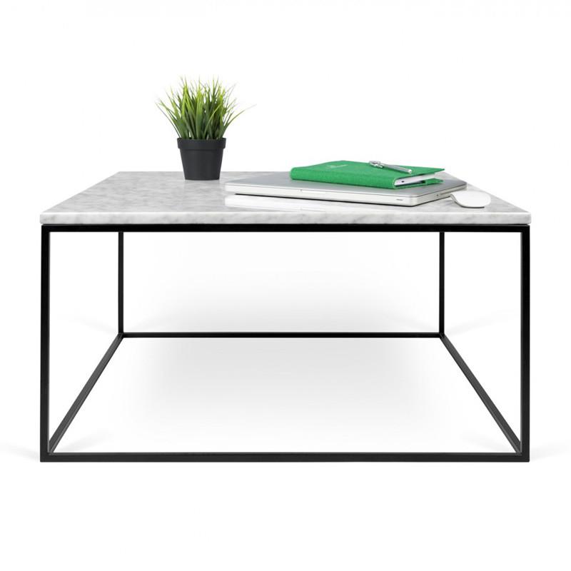 Salon Tafel Zwart Wit.Witte Salontafel Marmer 75 Cm