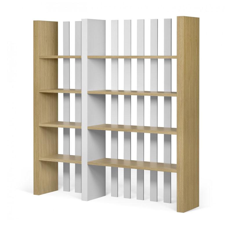 Tundo bounce design boekenkast van hout lumz for Boekenkast design