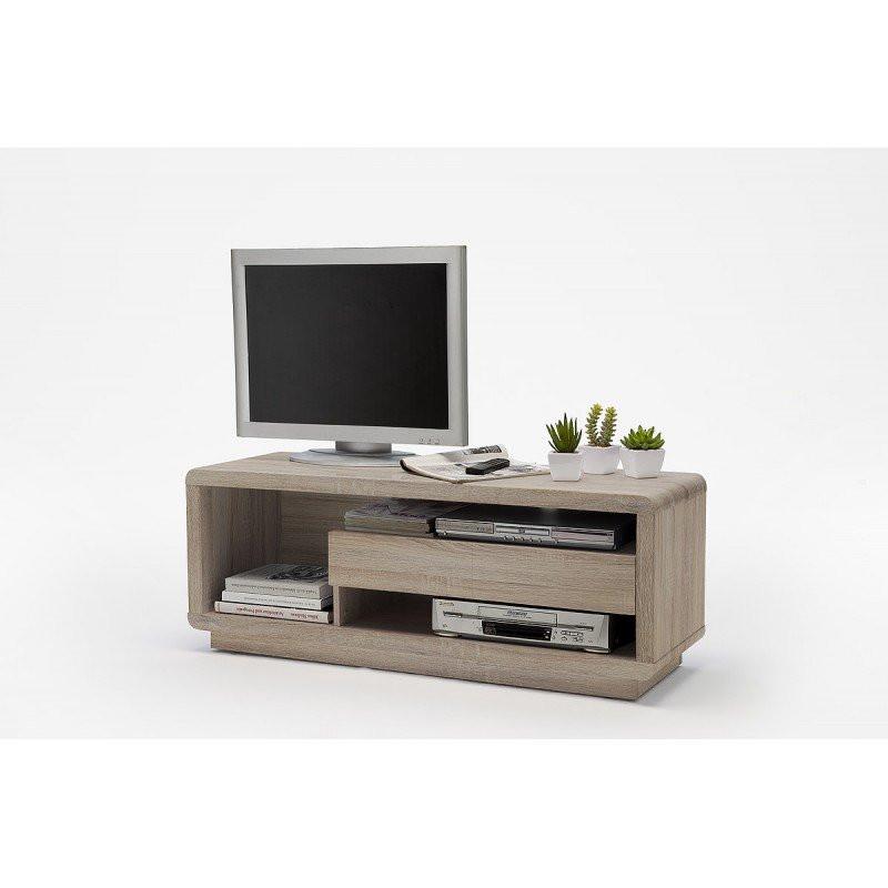 Tv meubel design eiken look gregor for Tv meubel design