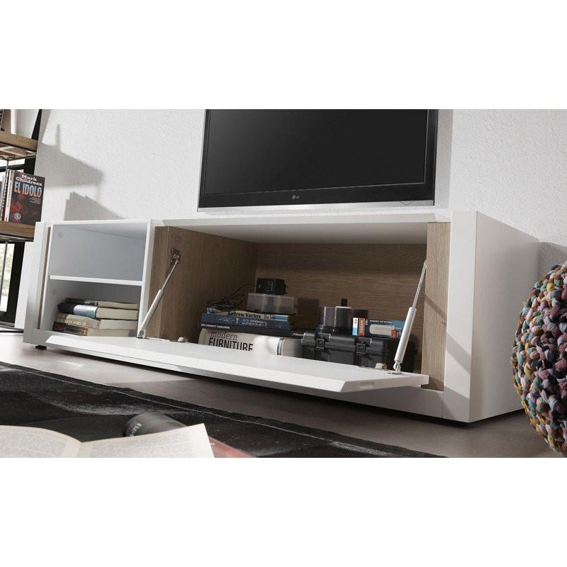 Kave home de modern design tv meubel wit laforma qu for Tv meubel design