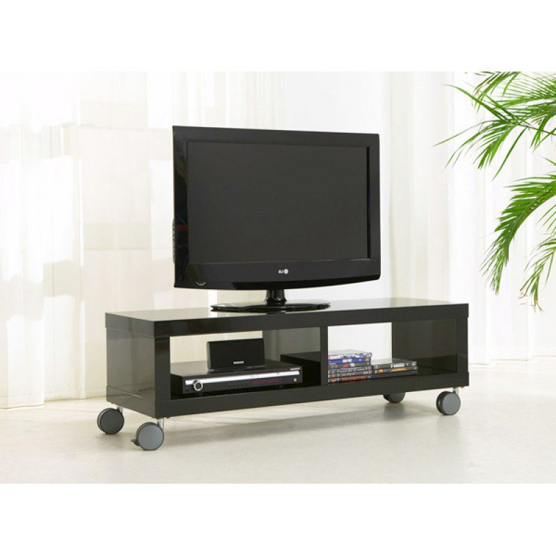 tv meubel op wielen zwart 120 cm giani fiore. Black Bedroom Furniture Sets. Home Design Ideas