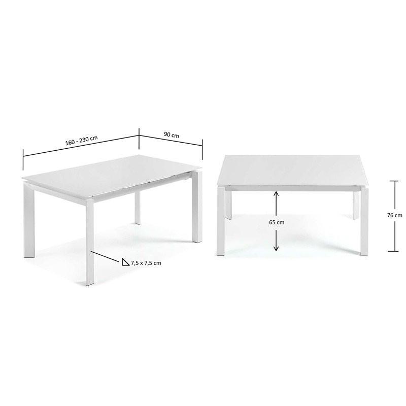 Witte Eettafel Uitschuifbaar.Uitschuifbare Eettafel Wit Laforma Atik