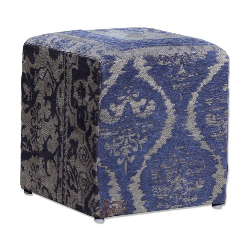 hocker barok patchwork donkerblauw. Black Bedroom Furniture Sets. Home Design Ideas