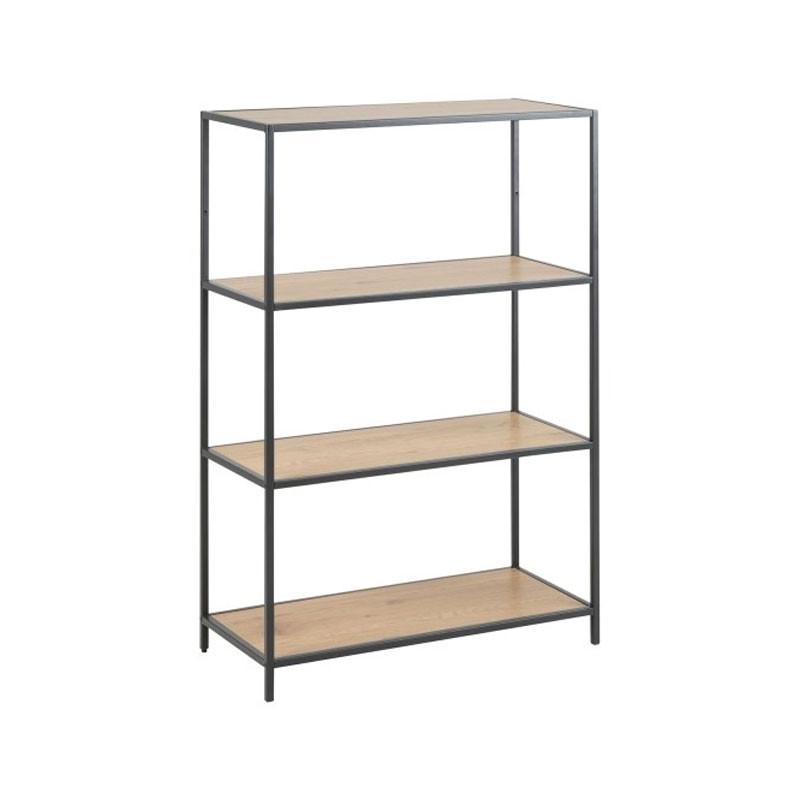 Zactona Bjorn | Metalen boekenkast met 4 planken | LUMZ