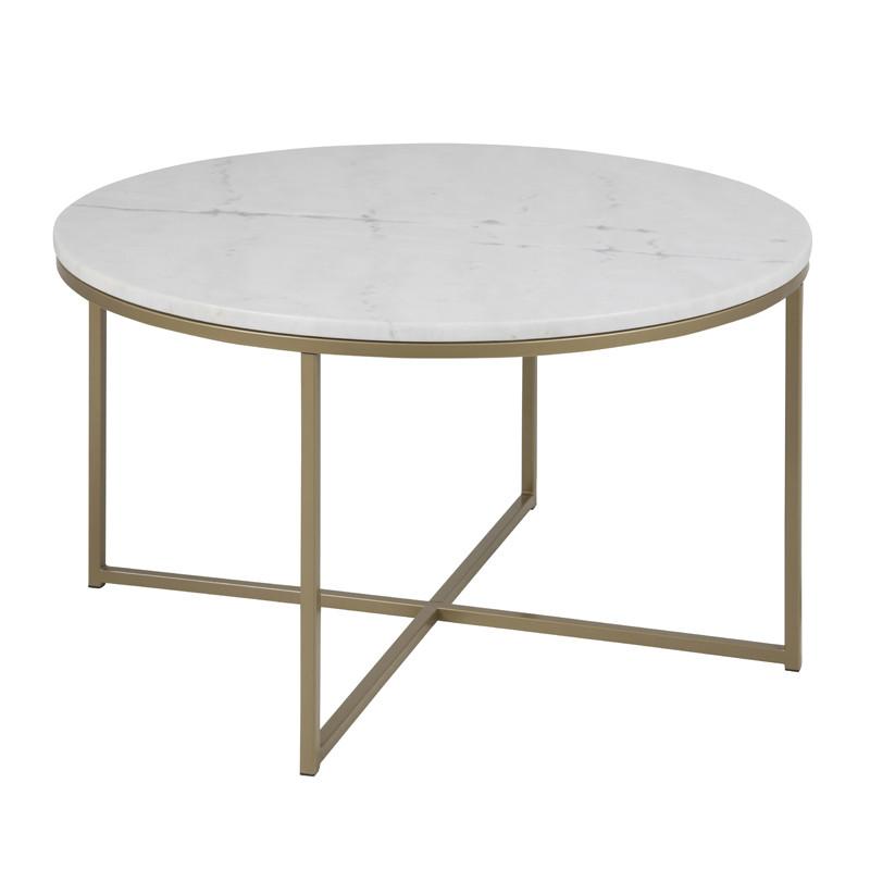 Voorkeur Zactona Marmor | Ronde salontafel met marmer blad wit | LUMZ @OS31