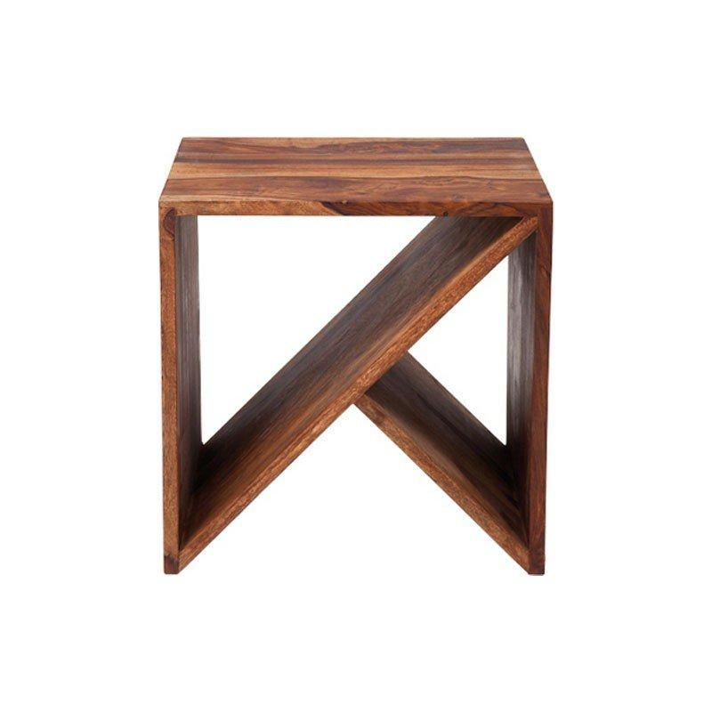 Bijzettafel hout Kare