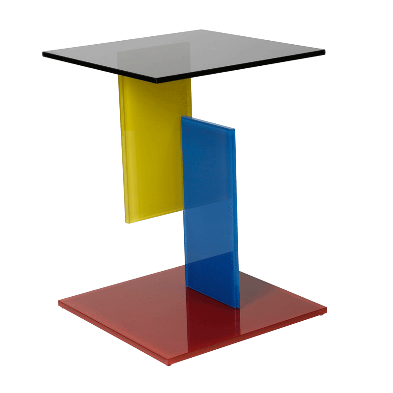 Design bijzettafel glas Vetro 4