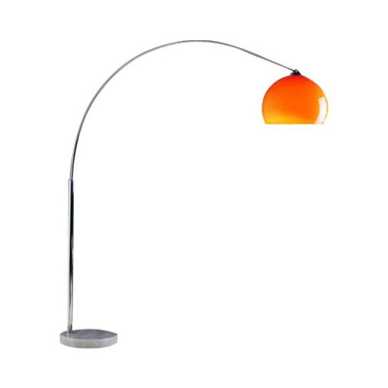 Design booglamp met kunststof kap