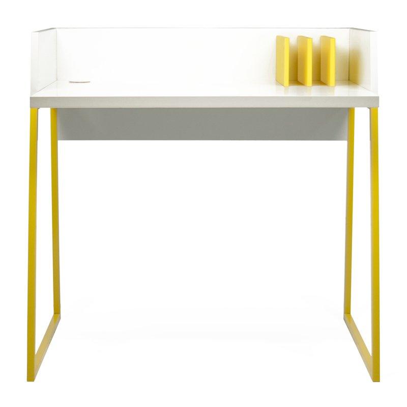 Design bureau geel met wit