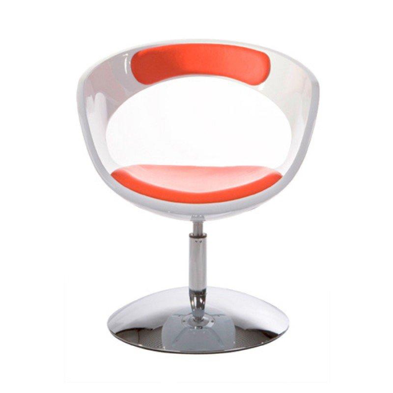 Design bureaustoel met kunstlederen zitting