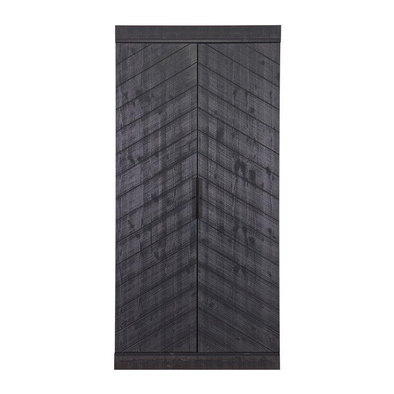 Moderne zwarte kledingkast