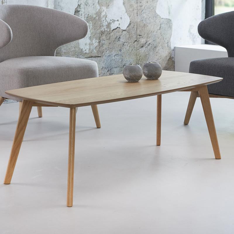 Langwerpige salontafel van eikenhout