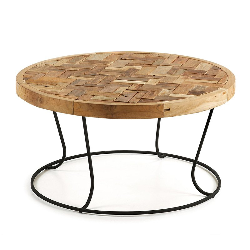 Ronde salontafel hout kopen online internetwinkel for Salontafel rond design