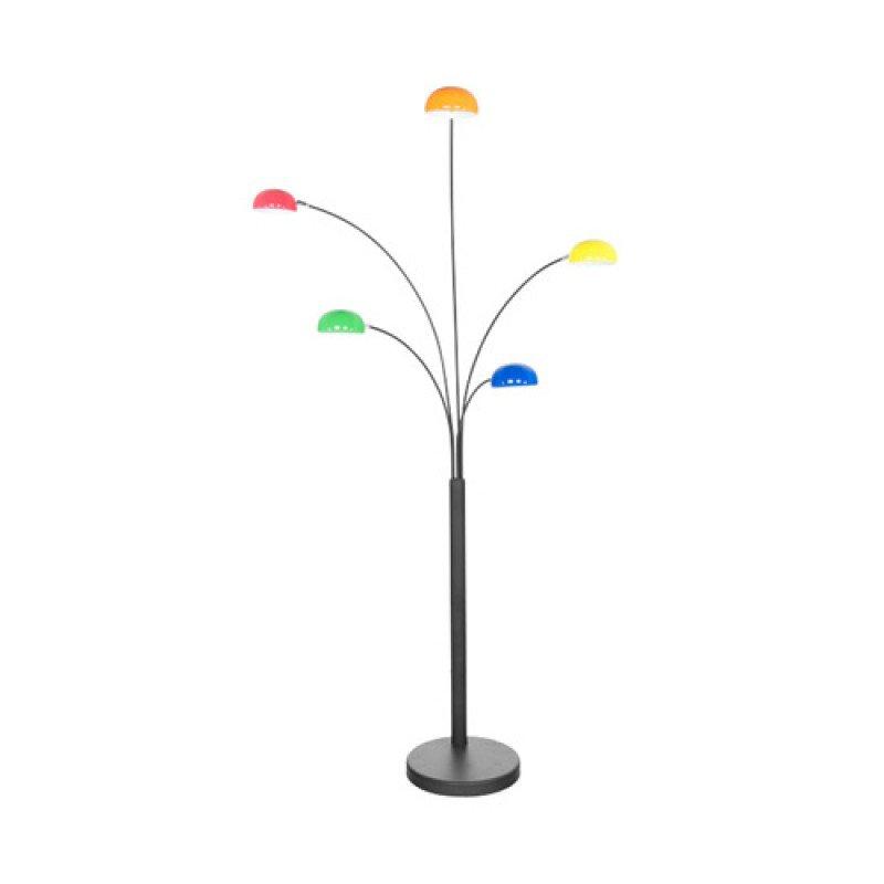 Design vloerlamp met een metalen frame