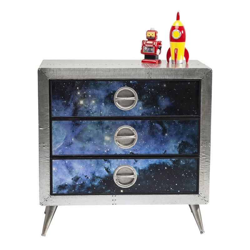 Ladenkast 80 cm breed met illustratie Cosmos 3 Kare Design