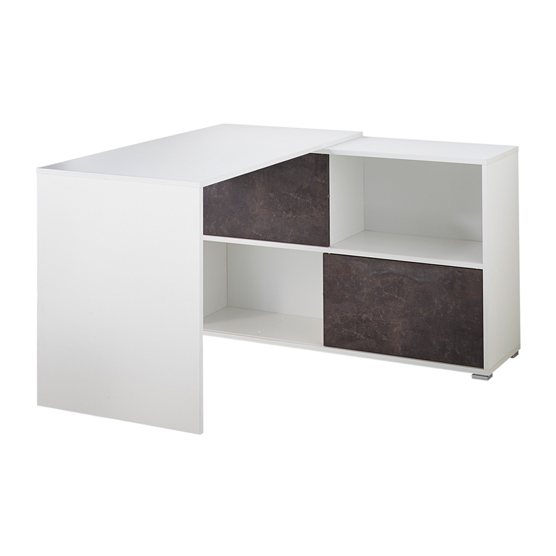 Bureau met beton