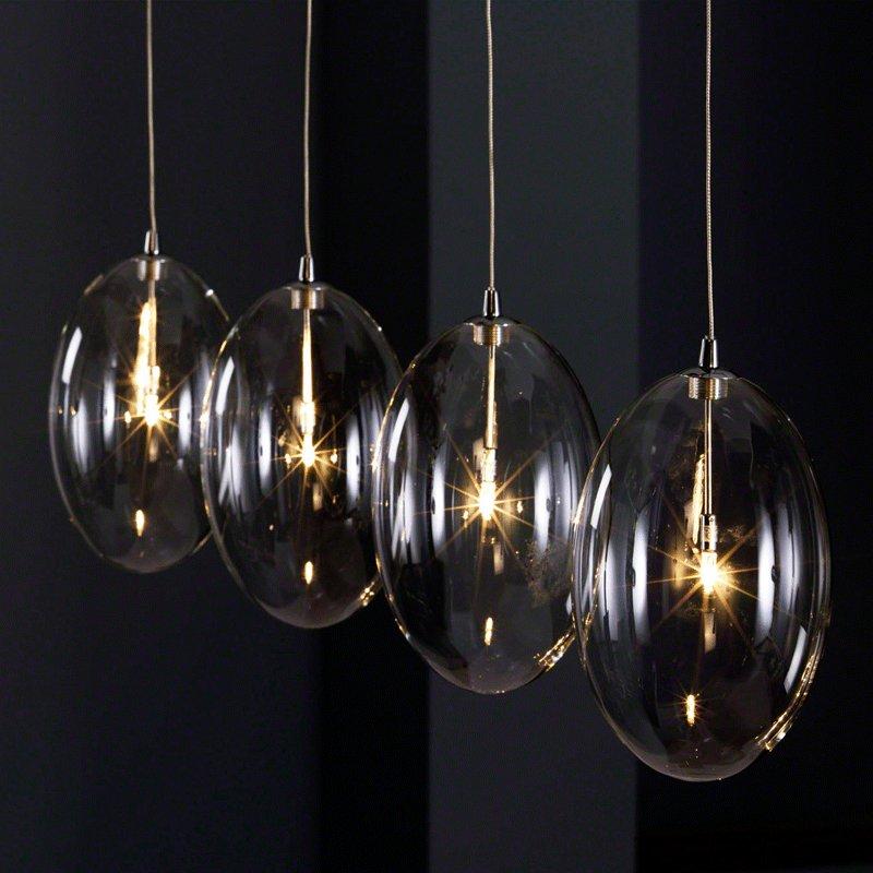 Design hanglamp glazen bollen € 239.99 bij OnlineDesignMeubel