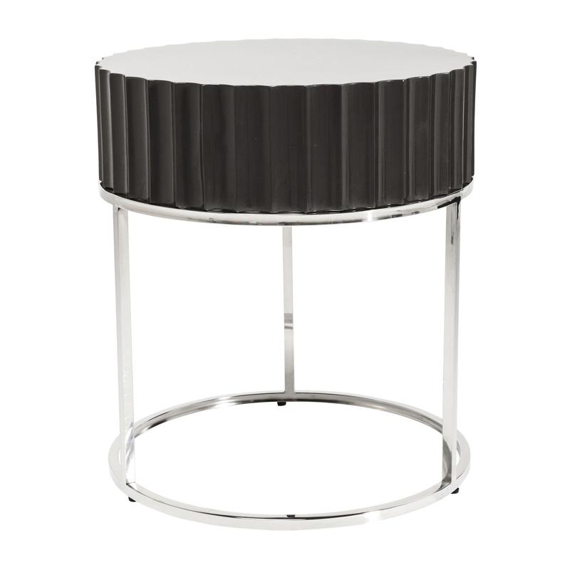 Grijs tafeltje rond