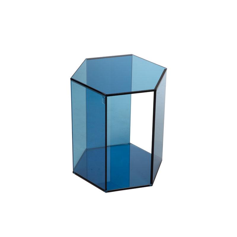 Kleine hoge glazen hexagon