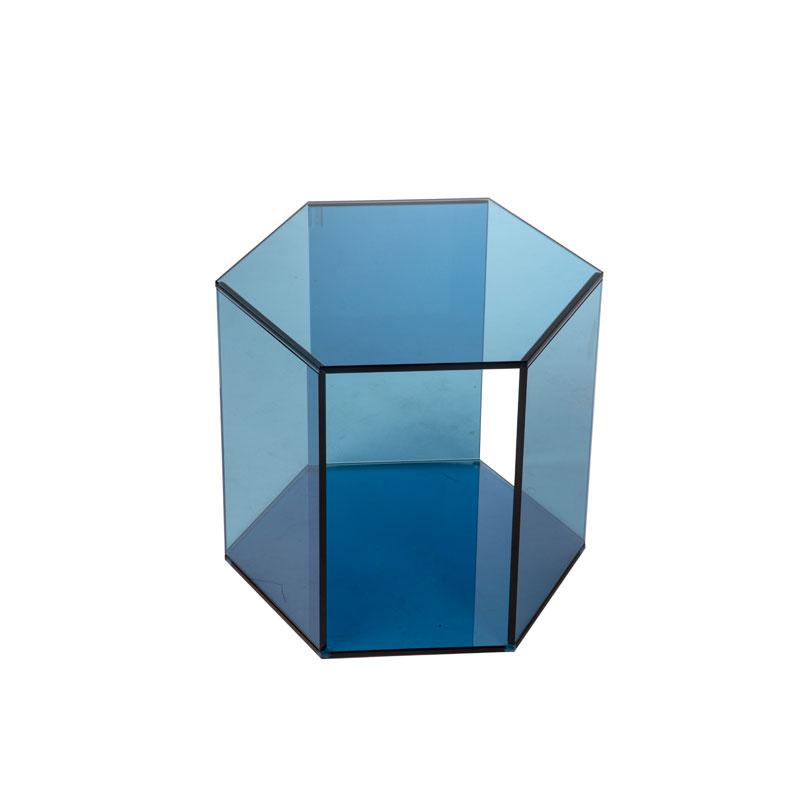 Kleine lage glazen hexagon