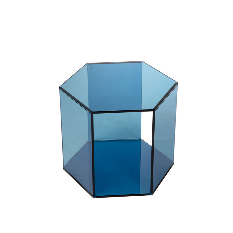 Medium glazen hexagon