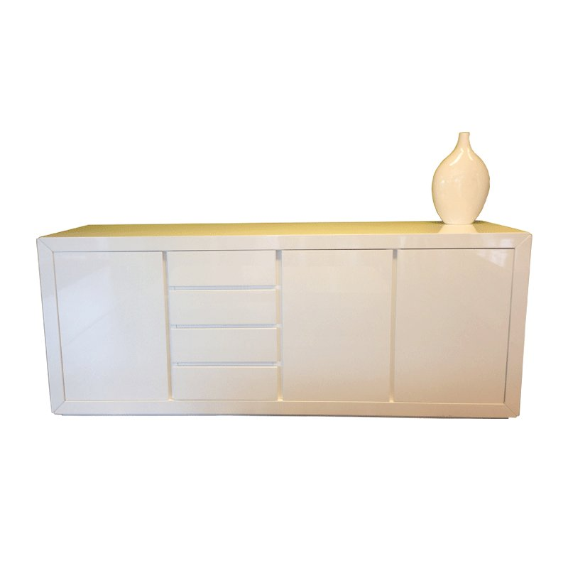 Design dressoir hoogglans wit