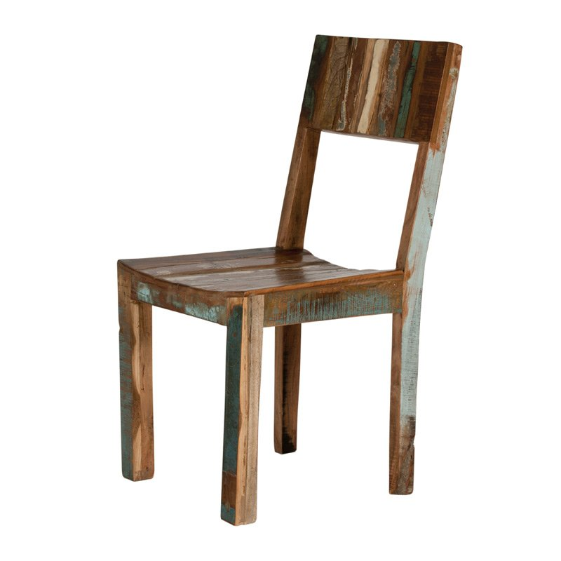 Authentieke stoel van sloophout