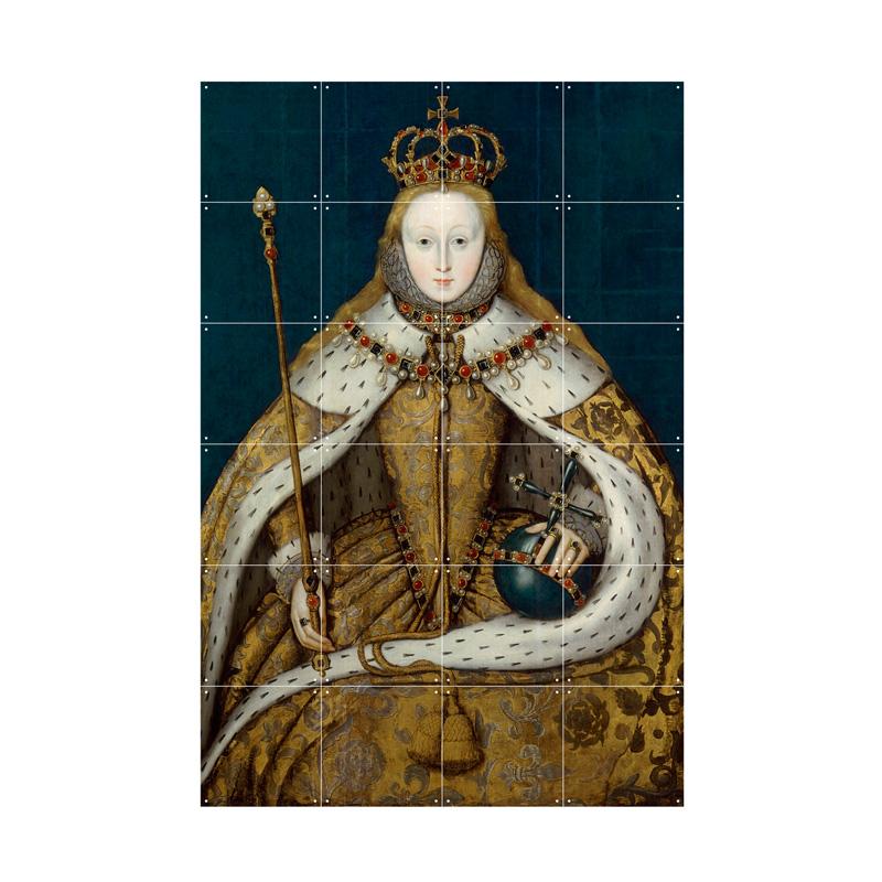 Muurdecoratie Koningin Elzabeth
