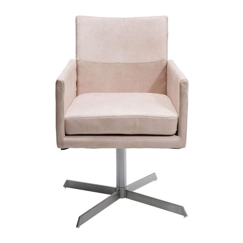 Vierkante roze stoel