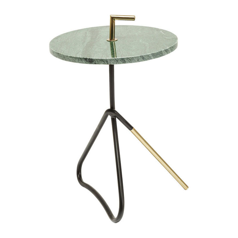 Bijzettafel met groen marmer Kare Design Steen Groen