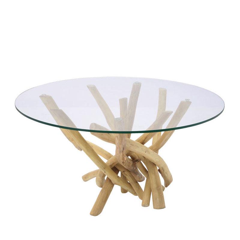 Ronde salontafel met hout