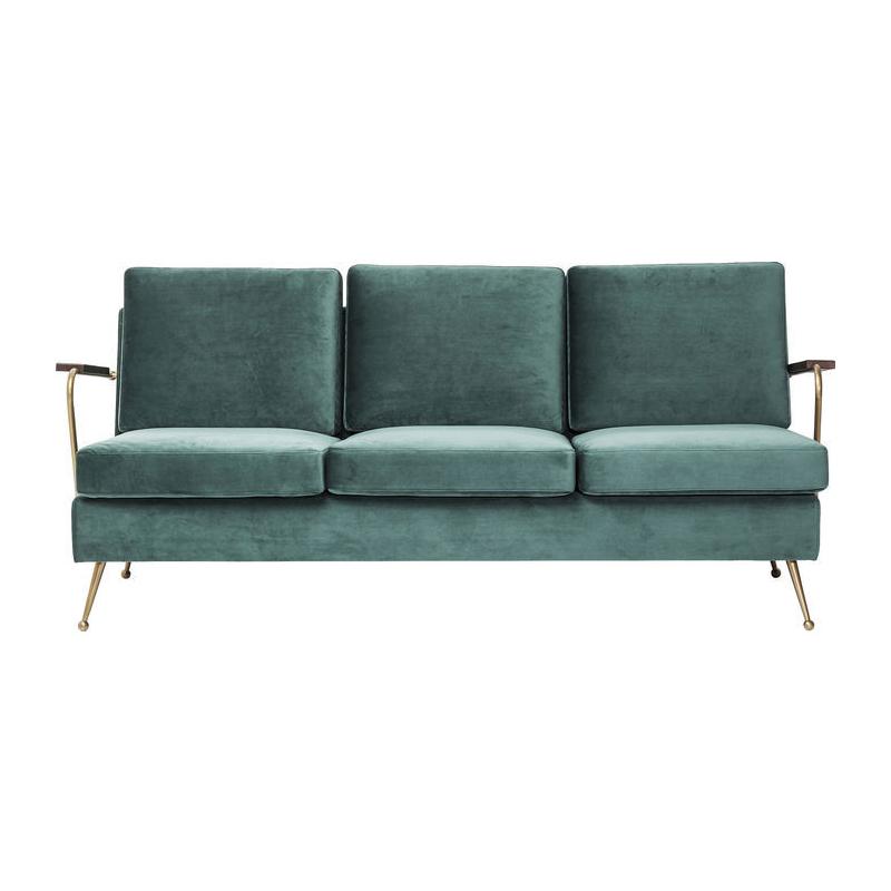 Retro turquoise 3-zitsbank