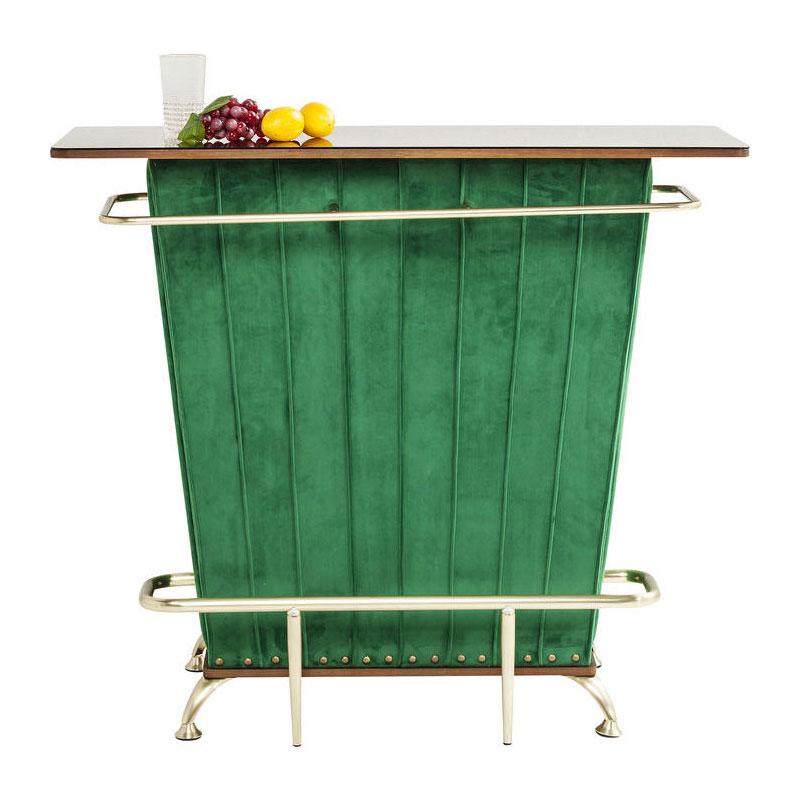 Groene velvet bartafel