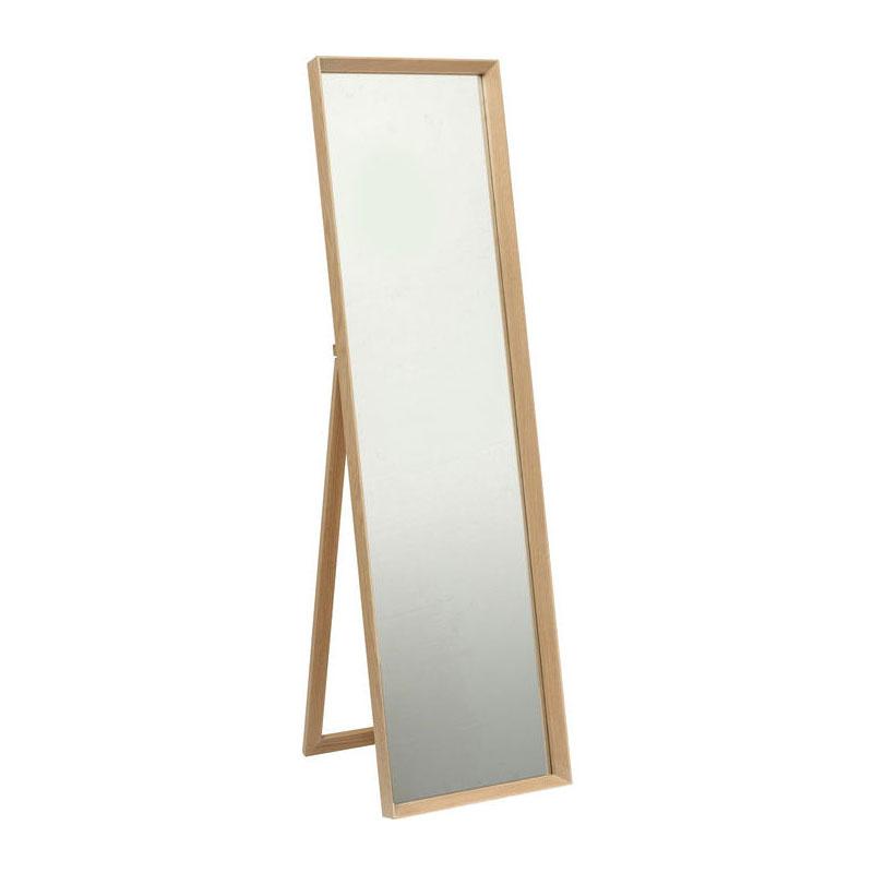 Staande spiegel met houten frame