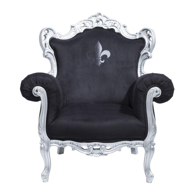 Brocante zilveren fauteuil