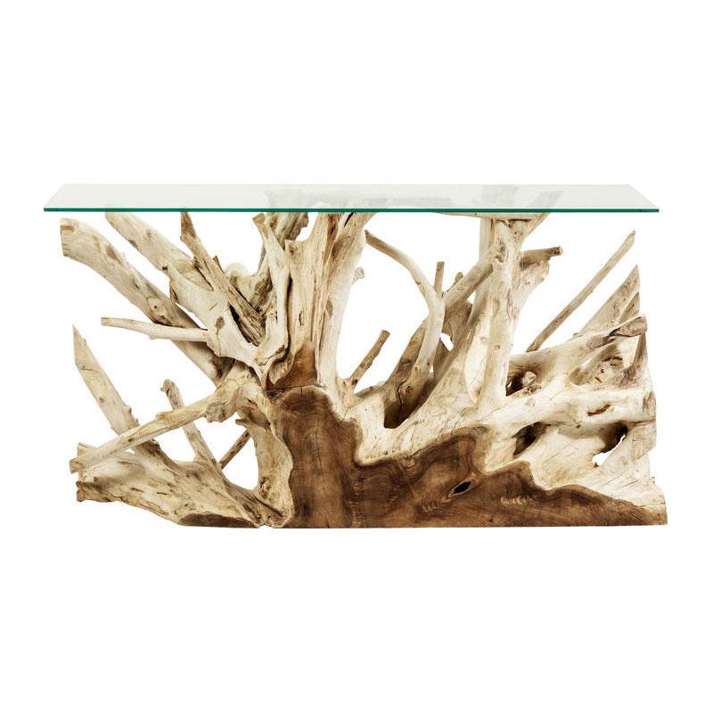Natuurlijk houten sidetable