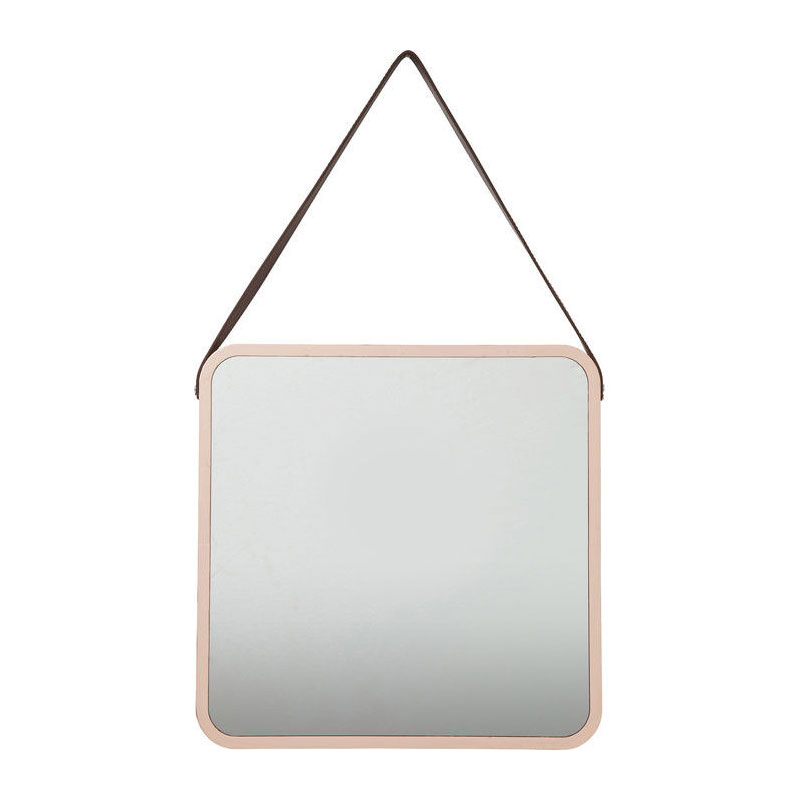 Vierkante roze spiegel