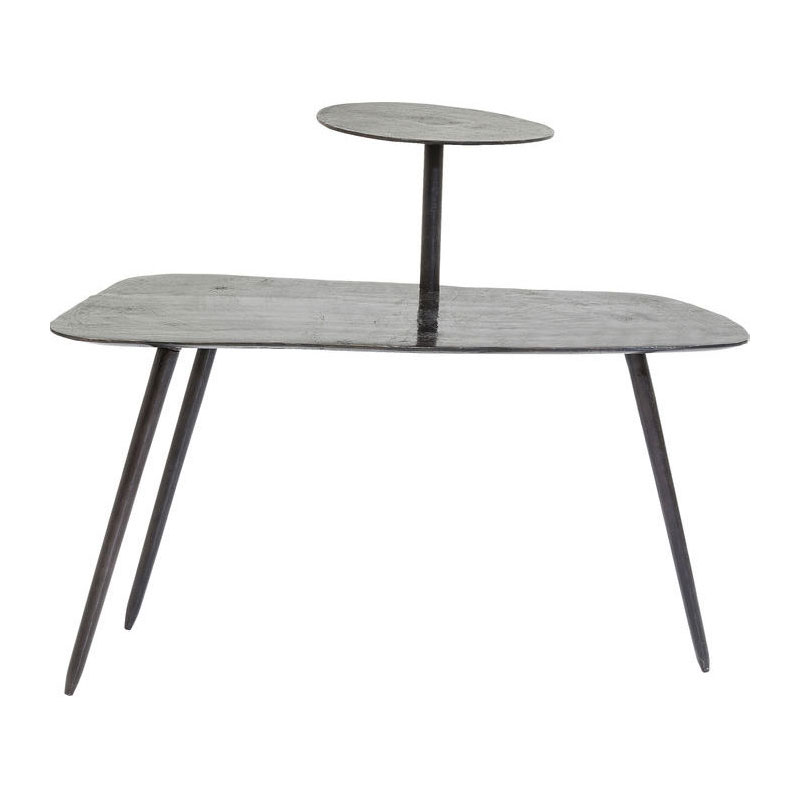 Zwart metalen salontafel