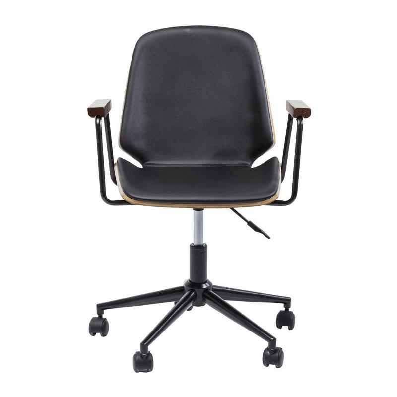 Zwarte design bureaustoel