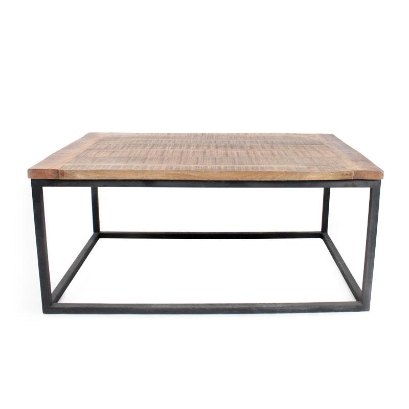 Rechthoekige industriele salontafel