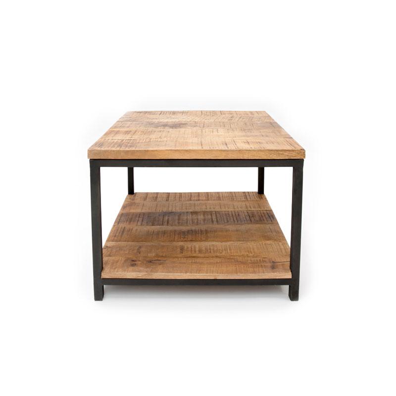 Vierkante salontafel met hout