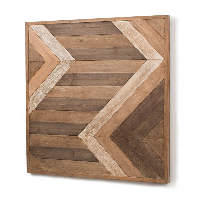 Vierkante houten decoratie